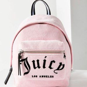 Juicy Couture Pink Mini Velour Backpack